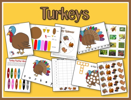 FREE Turkey Printables